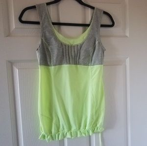 Unique Lululemon Sz 4 Sleeveles top Waist String